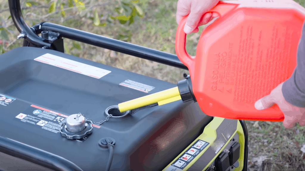 a generator add fuel