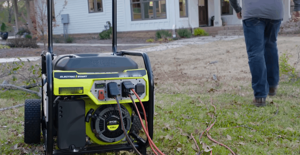 a 10000 watt generator out of home